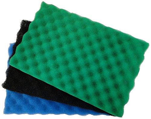AllPondSolutions Pond Filter Foam Layers 18 x 25 Inch Pack of 3 0
