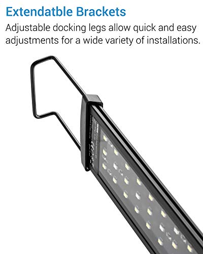 NICREW SlimLED Aquarium Plants light Fish Tank Light with Wired Timer and Extendable Brackets 28 42 cm 0 1