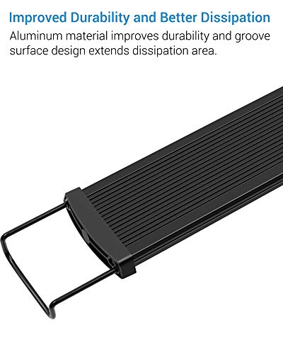 NICREW SlimLED Aquarium Plants light Fish Tank Light with Wired Timer and Extendable Brackets 28 42 cm 0 2