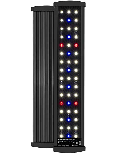 NICREW SlimLED Aquarium Plants light Fish Tank Light with Wired Timer and Extendable Brackets 28 42 cm 0