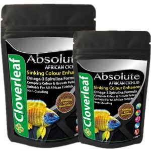 Cloverleaf 150g Absolute African Cichlid 54 Protein Colour Enhancing Sinking Pellets Food 0